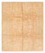 Vintage Hand-knotted Carpet 8and0390 X 9and0398 Traditional Brown Wool Area Rug
