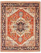 Vintage Hand-knotted Carpet 7'9 X 9'8 Traditional Dark Copper Wool Area Rug