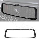 W463a W464 G63 Amg Mercedes Carbon Front Bumper Grille Cover Frame Brabus Style