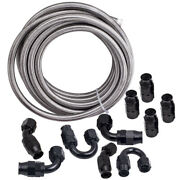 10an An10 Braided Ptfe Fuel Hose End Fitting 1000psi Working Pressure Neuf