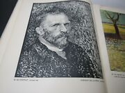 Vtg Van Gogh Art Book French Language Illustrated Color And Black White 1945