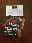 5 Red Lobster 10 Gift Cards / Gift Certificates 50 Value 12/31/21 Exp