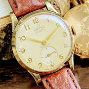 Super Waffle Dial Smith Deluxe Antique Men's Watches Rare 1950 From Japan