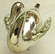 Antique Rare Vintage Russian Glass Christmas Ornament Xmas Decoration Old Swan