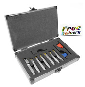 Mla007 7-piece 5/16-inch Indexable Carbide-tipped Metal Lathe Tool Bits