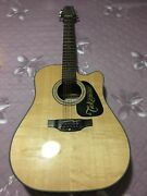 Takamine Natural G-series Acoustic Electric Guitar With Bridge Doctor And Case
