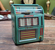 Vintage Haji Select-o-matic Jukebox - Made In Japan Tin Wind Up Toy Bank Tested