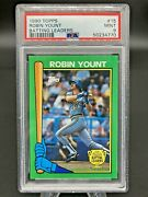 Rare 1990 Topps Robin Yount 15 Batting Leaders Psa 9 Mint Pop 2 None Higher