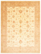 Vintage Hand-knotted Carpet 9and0390 X 12and0391 Traditional Cream Wool Area Rug