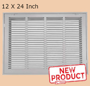 Return Air Vent Grille Filtered 12 Inch Height X 24 Inch Width Steel White Steel