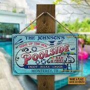 Soak Up The Sun Pool Bar And Grill Rectangle Wood Sign Enjoy Relax Laugh Customize