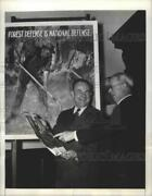 1941 Press Photo Claude R. Wickard Sec. Of Agriculture Opens Forest Fire Drive