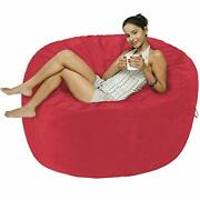Basics Memory Foam Filled Bean Bag Chair With Microfiber Cover - 5and039 Pink
