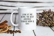 Airedale Terrier Mom Mug Funny Coffee Cup Birthday Gifts For Men And Women