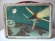 1958 Vintage Outer Space Thermos Lunch Box Things At The Time Age Universe There