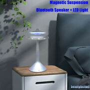 Colorful Ufo Magnetic Suspension Wired Levitating Bluetooth Speaker + Led Light