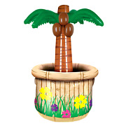 6 Inflatable Palm Tree Cooler Holds Apprx 24 12-oz Cans