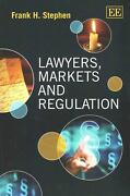 Lawyers, Markets And Regulation By Frank H. Stephen English Paperback Book Fre