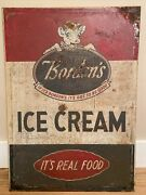 Rare Double Sided Tin Elsie The Cow Bordenandrsquos Ice Cream Sign