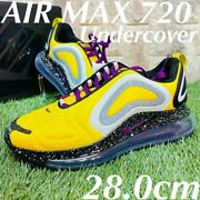 Men 10us Undercover Nike Air Max 720 Airmax Collaboration Sneakers Yellow