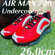 Undercover Nike Air Max 720 Airmax Collaboration Sneakers Red Men 8.0us