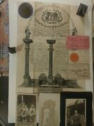 Updated Freemason 1918 Orig Certificate With Seal Plus Loads More Newport R.i.