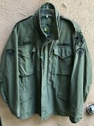 Vintage Original Vietnam Us Army Manandrsquos Field Coat W/5 Patches Size Small 33-37