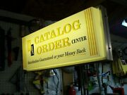 Vtg 60s-lighted Advertising Tel-a-sign/western Auto Catalog Order Center/nm