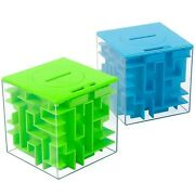 2 Pack Money Maze Puzzle Box Perfect Money Holder Puzzle And Brain Teasers F...