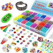 Inscraft 11900+ Loom Bands Rubber Band Bracelet Kit With Container 11900