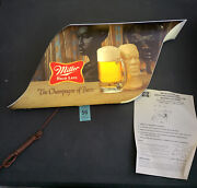 Miller High Life Lighted Beer Sign African Urban Theme Ultra Rare 27x11 Works