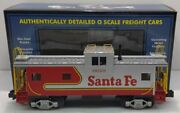 Mth 20-80002c Santa Fe Silver And Red Caboose Dap Extended Vision Ln/box