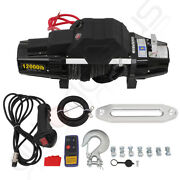 12000lb Electric Winch Towing Trailer Synthetic Rope Off Road Wireless Remote