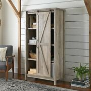 New Modern Farmhouse Bookcase Storage Cabinet 66 Inches With Adjustable Shelves