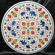 42 Inch Marble Kitchen Table Antique Elephant Design Dining Table Top For Decor