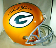 Bart Starr / Autographed Full Size Green Bay Packers Throwback Helmet / Steiner