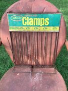 Vintage Ideal Hose Clamps Counter Display Organizer Rack Stand Sign Advertising