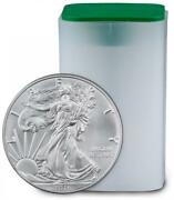 Roll Of 20 - 2016 Us Mint American Silver Eagle 1oz Bullion Round Coin Unc