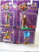 The Flinstones Collectible Figures Lot Of 4 Fred,barney And Bamm-bamm 1993
