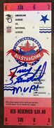 1988 Mlb All Star Game Full Ticket Signed By Mvp Terry Steinbach - Psa Pop Of 15