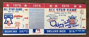 1976 Mlb All Star Game Full Ticket Signed By Mvp George Foster - Psa Pop Of 11