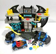 Imaginext Batcave Playset Figures Vehicles Accessories 2013 Fisher-price Lot