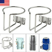 2 Packs Stainless Steel Ring Drink Bottle Cup Holder For Boat Marine Yacht Car
