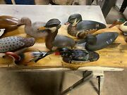 Vintage Wood And Canvas Duck Decoys