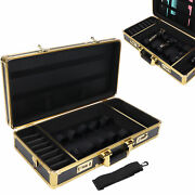 Professional Barber Stylist Case Code Lock Hair Clippers Scissors Combs Tool Box