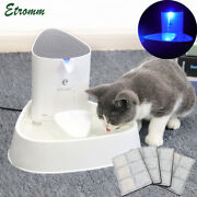 1.8l Electric Automatic Pet Dog Cat Water Fountain Drinking Bowl Led Dispenser