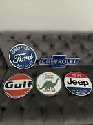 5 Metal Open Road Gas Oil Gm Car Sign Ford Chevrolet Jeep Gulf Sinclair Man Cave