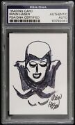 1940s Circa Irwin Hasen The Spectre Signed Sketch Card Psa/dna Slabbed