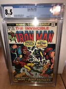 Iron Man 55 Cgc 8.5 White Pages First Thanos Drax N Others