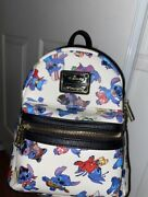 Disney Loungefly Lilo And Stitch Costumes Mini Backpack Og Heart Tag
